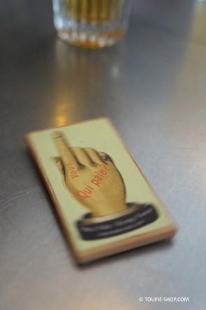Toupie qui paie la Tournée Jouet Ancien Bois Jeu de Bar Café Jeux Adulte Toupie Shop Boutique Magasin Jouets Toupies Bois