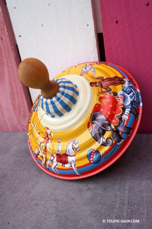 Carrousel Cirque Grande Toupie en Metal Jouet Ancien Autrefois Jeux Toupie Shop Boutique Magasin Jouets Achat Toupies Enfants