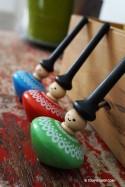 Personnage Toupie à main Jeux en Bois Enfants