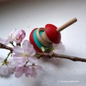 Toupie Pomme Jouet en Bois avec Anneau pour Enfant et Adulte