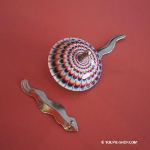 Serpent Jouet Ancienne Métal Toupie Magnétique Enfants Jeux Ancien Avec Aimant Toupie Shop Magasin de Jouets Toupies Metal Bois