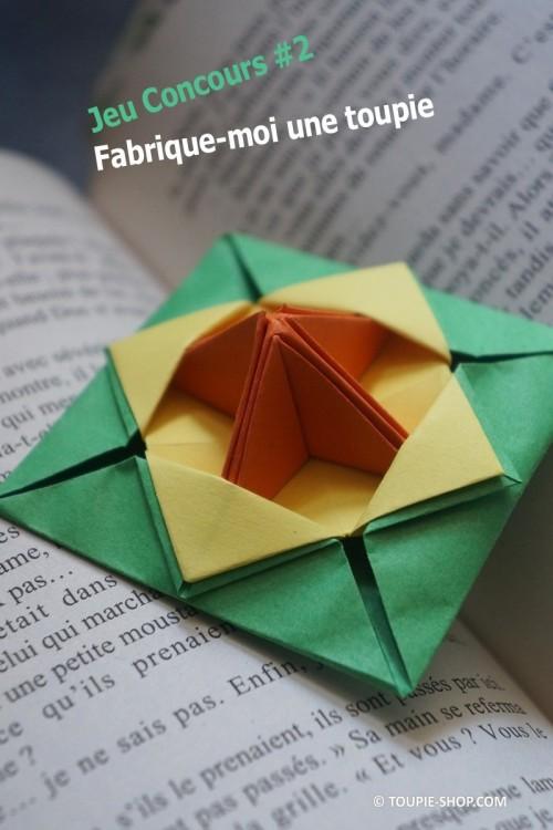Jeu Concours Fabrique-moi une toupie Jeux Animation Enfant Atelier Creatif Origami Toupie Shop Magasin Jouets Bois Toupies