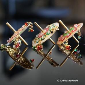 Krishna Spinning Top Petite toupie en metal jouet traditionnel Inde Toupie Shop Magasin Jouets Acheter Jeux Toupies