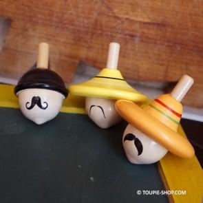 Collection 3 Toupies Chapeaux Jouet en Bois Cadeau Original Toupie Shop Magasin Jouets Achat Jeux Noel Anniversaire Enfant
