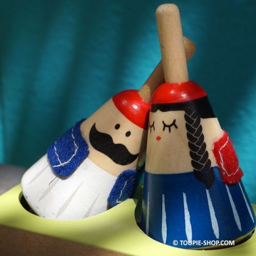 Couple Tasos Golfo Jeux de Toupies en Bois Culture Tradition Grece Toupie Shop Magasin Jouet Cadeau Original Fete Meres Peres