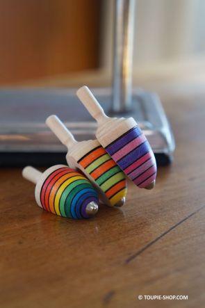 Toupie en bois erable jouet artisanal jeux adulte cadeau bureau aimant magnet original Toupie Shop magasin jouets toupies