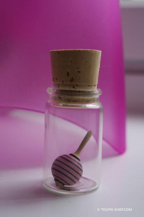 Jeu Mini Toupie Chupa Petit Jouet en Bois Artisanal Avec Fiole en Verre Toupie Shop Magasin Jouets Jeux Toupies