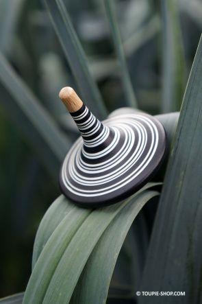Noir&Blanc Toupie de Createur Jeu en Bois Artisanal Fabrique Europe Toupie Shop Magasin Jouet Achat Jeux Toupies Cadeau Design