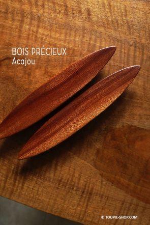 Rattleback Anagyre Toupie en Bois Exotique Acajou Jeux Sciences Artisanat Fabrique en France Collection Jouet Toupie Shop