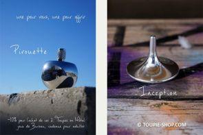 Collection 2 Jeux de Toupies en Metal Cadeau Adulte Acheter Jouet Toupie Inception Film Jeu de Bureau Site Toupie Shop