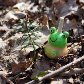 Toupie Grenouille Jouet en Bois Rigolo pour Enfant Cadeau Animation Jeux Toupie Shop Magasin Jouets Bois Collection Toupies
