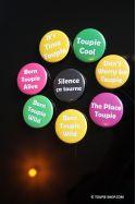 Badges Jeux de Mots avec Toupie Citation Humour - les 3