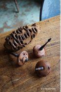 Toupirate ! Toupie en Noix de Banksia et Bois d'Ebène Jeux Made in France