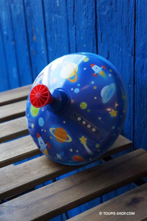 Fusee Grande Toupie de l'Espace en Métal Jeux Lumineux Jouet Ancien Cadeau Noel Enfant 1 an Collection Toupie Shop