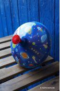 Grande Toupie de l'Espace en Métal Jeux Lumineux Jouet Enfant