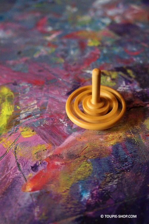 Labyrinthe Toupie en Bois Olivier Jeu Original Cadeau Insolite Jouet au Naturel Jeux Illusions Optiques Cadeau Enfant Adulte