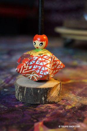 Toupie Geisha Jeux en Papier Origami Jouet de Collection Art Culture Japon Tradition Toupie Shop Magasin Jouets en bois